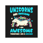 Magic Unicorn Canvas Print