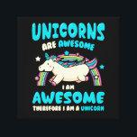 "Magic Unicorn Canvas Print<br><div class=""desc"">unicorn,  magic,  funny,  rainbow,  moody,  fantasy,  horse</div>"