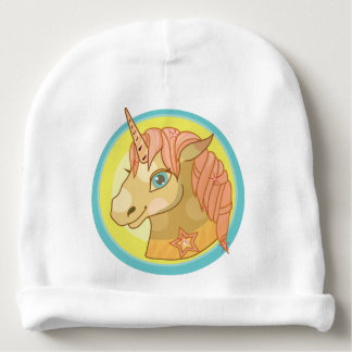 Magic Unicorn cartoon baby fantasy illustration Baby Beanie
