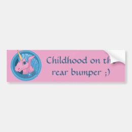 Magic Unicorn cartoon baby illustration Cute horse Bumper Sticker