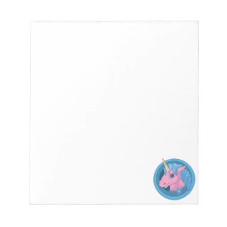 Magic Unicorn cartoon baby illustration Cute horse Notepad