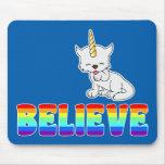Magic Unicorn Cat = Kittycorn Mouse Pad