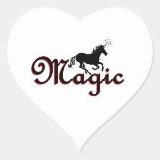 Magic Unicorn Heart Sticker