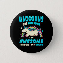 Magic Unicorn Pinback Button