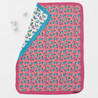 Magic Unicorn Reversible Baby Blanket (Pink/Blue)