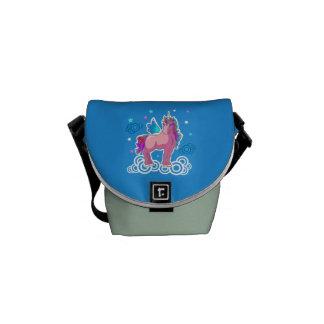 Magic Unicorn with wings Messenger Bag