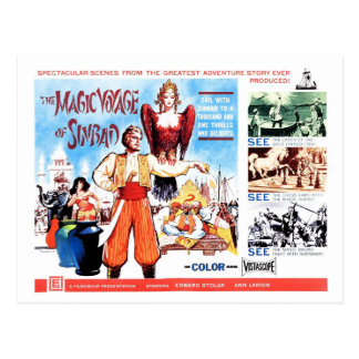 Magic Voyage of Sinbad Post Card