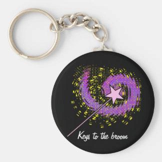 Magic Wand Basic Round Button Keychain