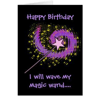 Magic Wand Birthday Card