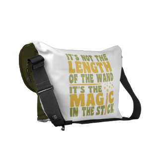 MAGIC WAND custom messenger bag