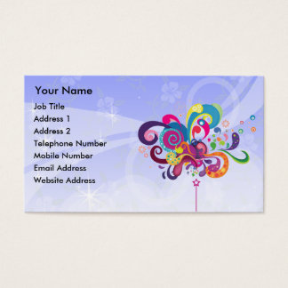 Magic Wand of Color Blue Background Business Card