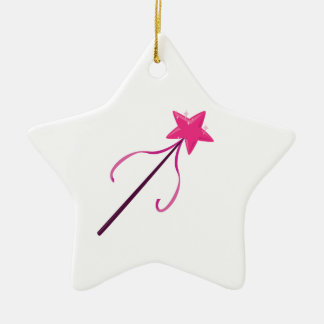 Magic Wand Double-Sided Star Ceramic Christmas Ornament
