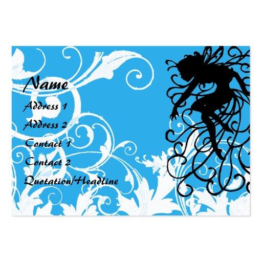 Magic White Garden -  Customized Large Business Card