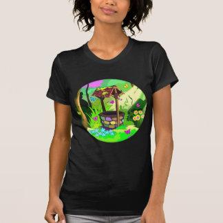 Magic Wishing Well Sunny Forest Butterflies Art T-Shirt