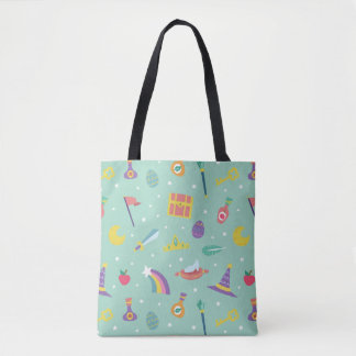 MAGIC WIZARD FAIRY TALE ELEMENTS mint background Tote Bag