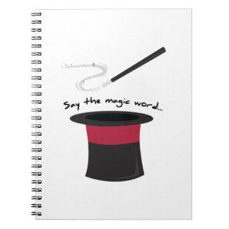 Magic Word Note Books