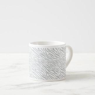 Magic Zebra Stripes Click to Customize Grey Color Espresso Cup