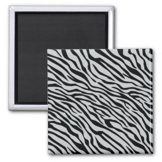 Magic Zebra Stripes Click to Customize Grey Color Magnet