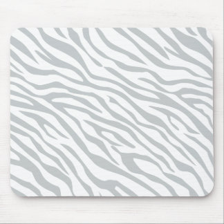 Magic Zebra Stripes Click to Customize Grey Color Mouse Pad