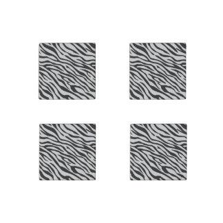 Magic Zebra Stripes Click to Customize Grey Color Stone Magnet