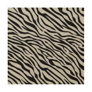 Magic Zebra Stripes Click to Customize Grey Color Wood Wall Art