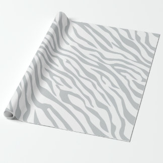 Magic Zebra Stripes Click to Customize Grey Color Wrapping Paper