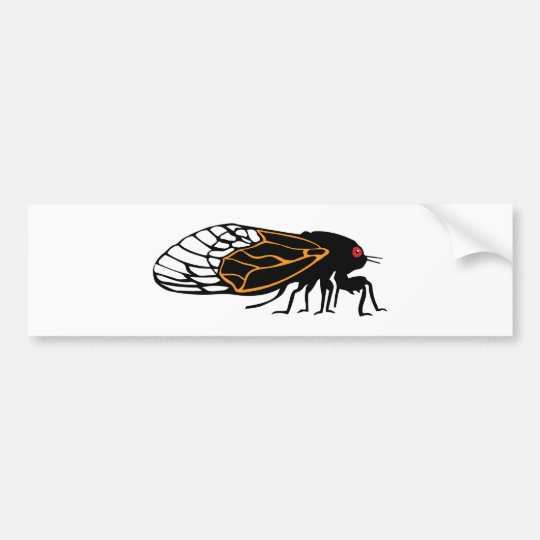 Magicada - Cicada - Cigale - Summer Buzz Bumper Sticker