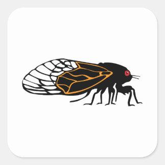 Magicada - Cicada - Cigale - Summer Buzz Square Sticker
