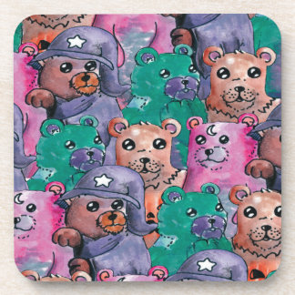 magical bears of pelucia beverage coaster