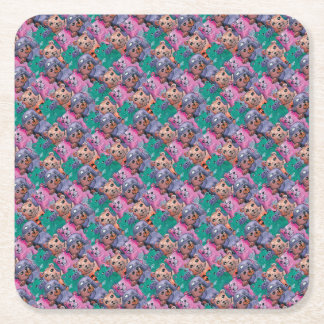 magical bears of pelucia square paper coaster