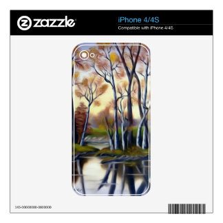 Magical Birch Bay Lagoon Decals For The iPhone 4