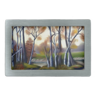 Magical Birch Bay Lagoon Rectangular Belt Buckle