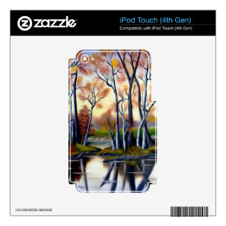 Magical Birch Bay Lagoon Skins For iPod Touch 4G