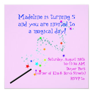 Magical Birthday Invitation 4