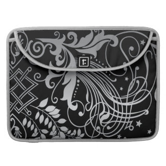 Magical Black Damask Lace Sleeve For MacBook Pro