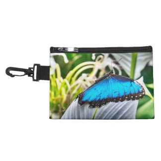 magical Blue Butterfly clip on cosmetic bag
