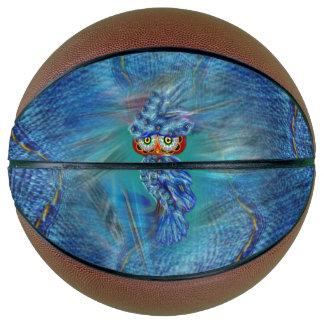 Magical Blue Plumage Fashion Owl Basketball