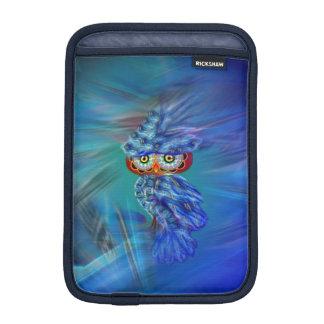 Magical Blue Plumage Fashion Owl iPad Mini Sleeve