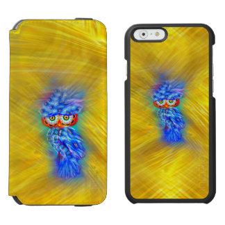 Magical Blue Plumage Fashion Owl iPhone 6/6s Wallet Case