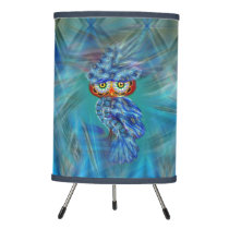 Magical Blue Plumage Fashion Owl Lamp