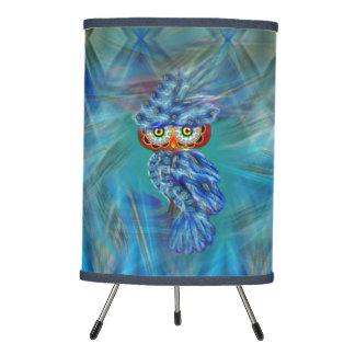 Magical Blue Plumage Fashion Owl Lamp
