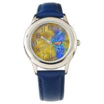 Magical Blue Plumage Fashion Owl Watch