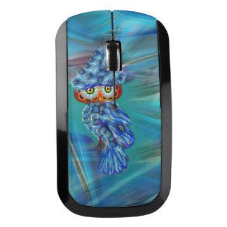 Magical Blue Plumage Fashion Owl Wireless Mouse