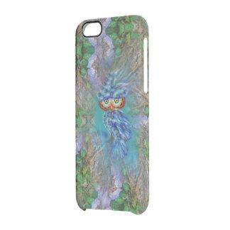 Magical Blue Plumage Owl Tree Bark iPhone Case