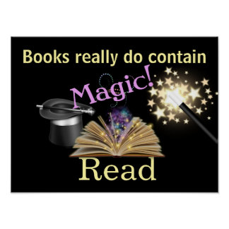 Magical Books Literacy Poster