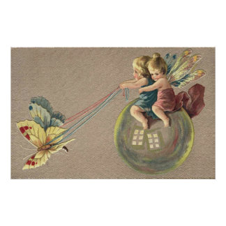 Magical Bubble Transport for Fairies Print