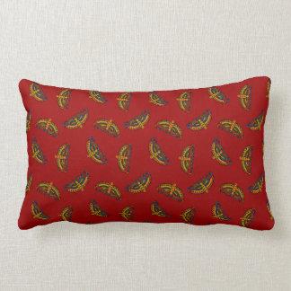 Magical Butterflies on Red Pillow