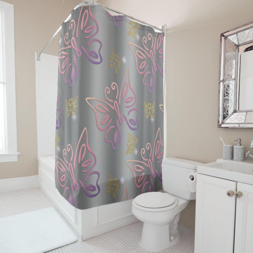 Magical Butterflies Shower Curtain
