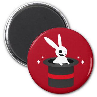 Magical Cartoon Rabbit Hat 2 Inch Round Magnet