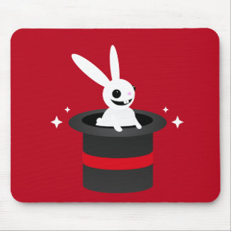 Magical Cartoon Rabbit Hat Mouse Pad